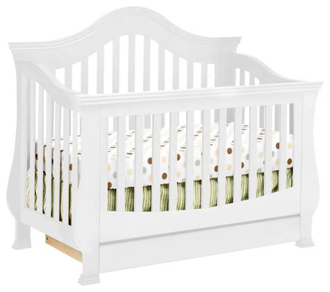Baby Cribs White Convertible Million Dollar Baby Ashbury 4 In 1 Convertible Crib With Toddler Rail Contemporary Cribs