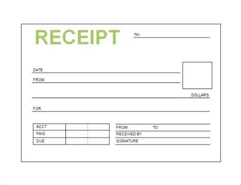 Free Printable Receipt Template Word by Printable Taxi Receipts Kinoroom Club