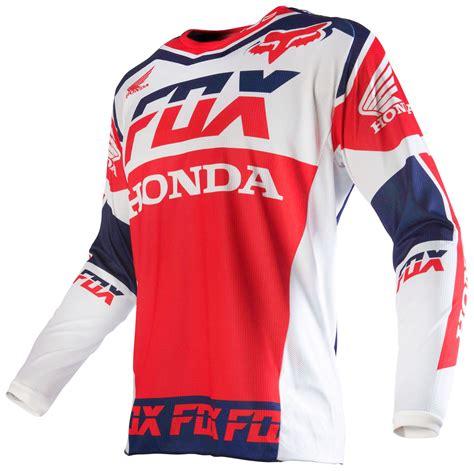 honda motocross jerseys fox racing 180 honda jersey revzilla