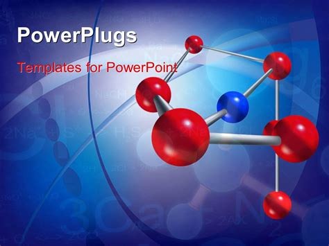 Powerpoint Template Abstract Scientific Background With Molecule Structure And Chemical Science Templates For Powerpoint