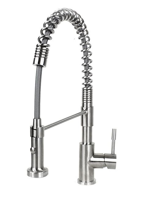 Coil Faucet by Ariel Coil Style Solid Stainless Steel Lead Free Single
