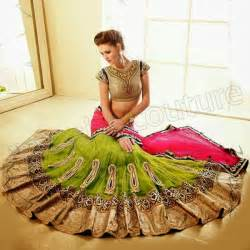 Choli sarees 2014 bridals wedding wear latest fashion dress for brides