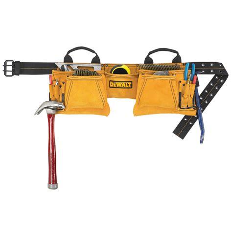 shop dewalt general construction leather tool apron at