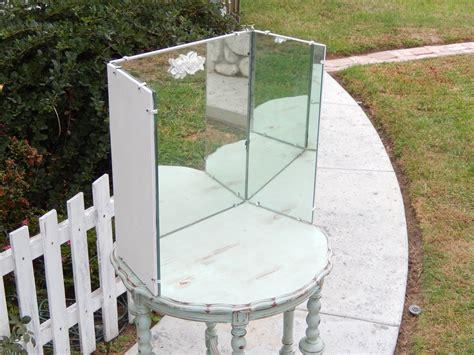 Three Sided Mirror Vanity by Vintage Vanity Mirror Three Way Mirror Shabby Vanity
