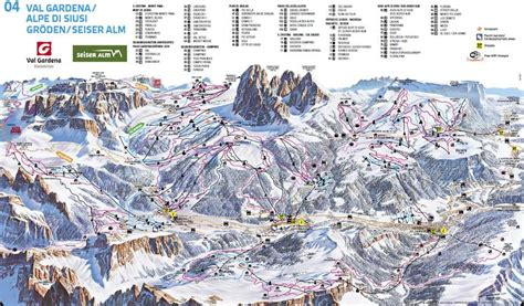 Ski map of Seiser Alm   Alpe di Siusi   Dolomiti Superski