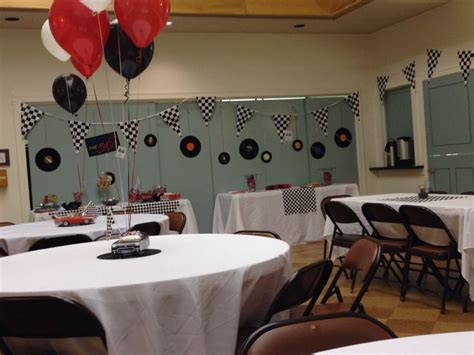 Decorations For My Dad S 60th Classic Car Birthday Party Classic Car Centerpieces
