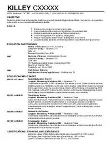 School Counselor Resume Exles by School Counseling Resume Exles Education And Resumes Livecareer