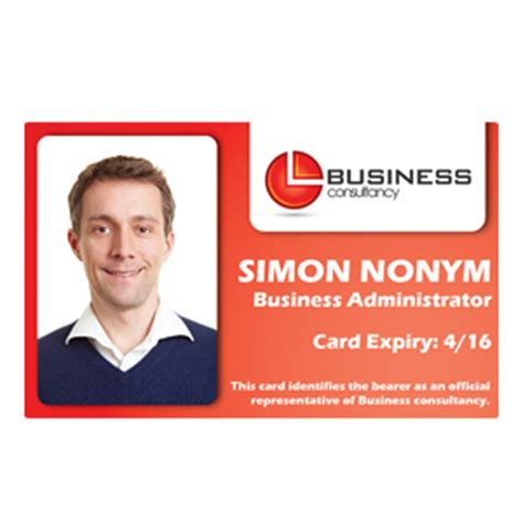 business id card template staff id cards id badges photo id cards