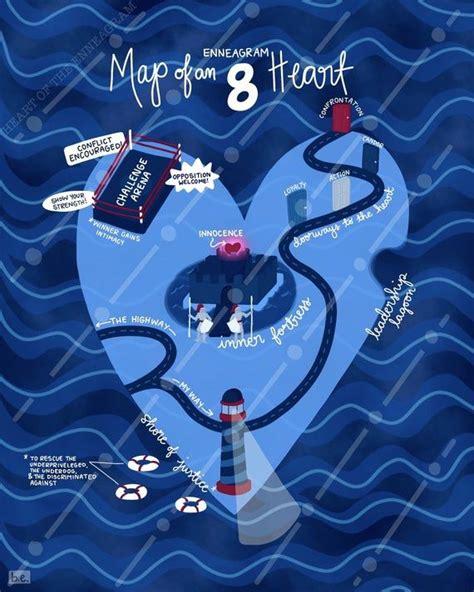 map   enneagram  heart art print etsy enneagram