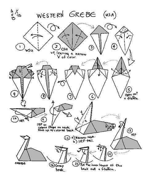 Origami Western Diagram - barbour origami