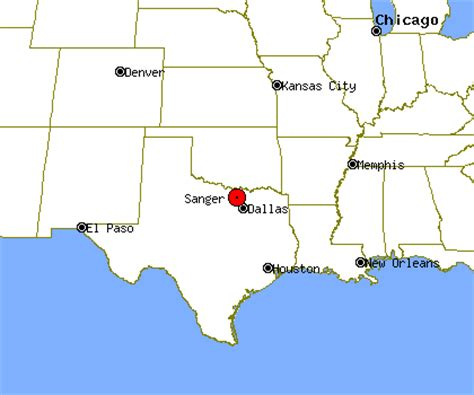 map of sanger texas sanger profile sanger tx population crime map
