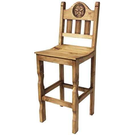 Rustic Mexican Bar Stools by Rustic Pine Collection Bar Stool Ban999