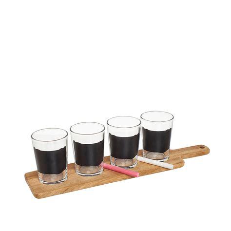 bicchieri degustazione birra set degustazione birra con lavagna e vassoio coincasa