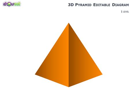 How To Make A 3d Triangular Pyramid Out Of Paper - 3d pyramid diagrams for powerpoint