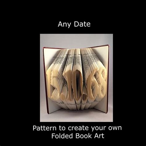 Book Origami Patterns - any date book fold pattern to create your own folded book