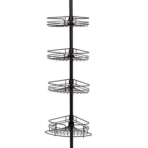 bathroom tension pole caddy interdesign 42671 york bronze shower bath tension pole caddy 5 quot to 9 quot tall