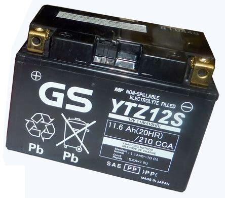 Motorrad Batterie Gs Gt12b 4 by Gs Yuasa Battery Gt12b 4 Yamaha Fz6