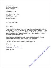 Resignation Confirmation Letter by Resignation Letter At Work Resignation Letter Career And Business Letter
