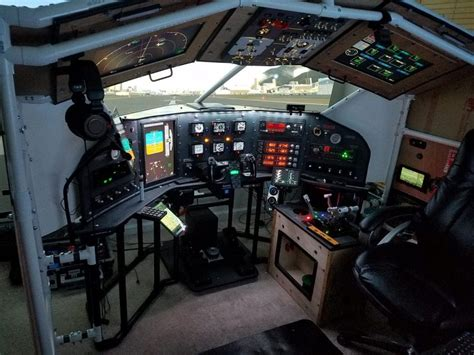 build home a next level home built flight simulator hackaday