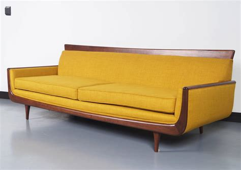 mid century modern walnut sofa at 1stdibs
