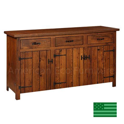 prima 3 door buffet with reclaimed barnwood made in usa