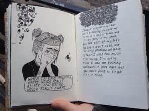 drawing grunge pale quote sad image 2722610
