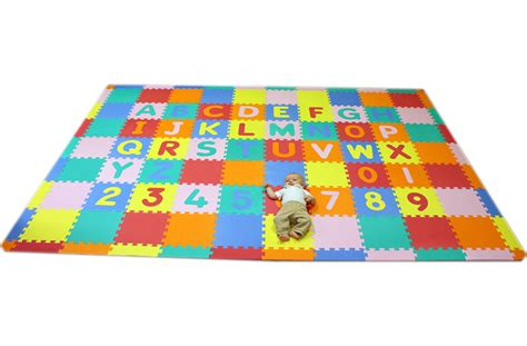 Child Play Mats Large large foam abc 123 mat play mat for