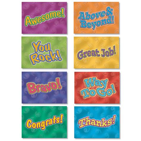 Gift Cards For Employee Recognition - whimsical mini note cards for employee recognition
