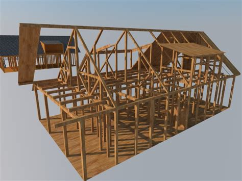membuat rumah tingkat dari kayu desain rumah kayu design rumah kayu disain 3d