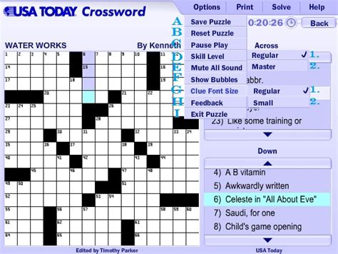 usa today crossword mobile usa today crossword help guide