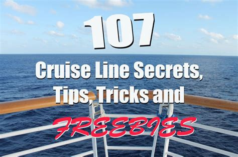 cruising boat basics hints tips and tricks for a fabulous afloat books 107 best cruise line secrets tips tricks and freebies