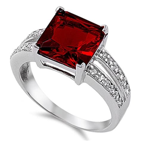 Square Rings by Square Ring New 925 Sterling Silver Engagement Band Ebay