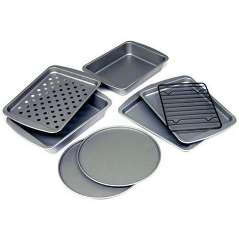 Toaster Oven Pan Set bakereze 8 non stick toaster oven set walmart