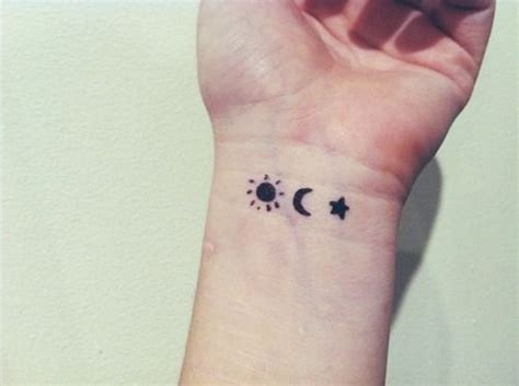small moon and stars tattoo 46 wonderful sun wrist tattoos