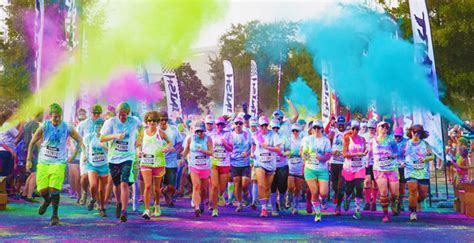 what is the color run color vibe 5k run vermont