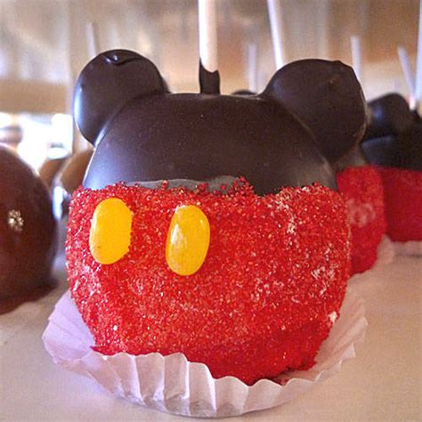 Apple Mickey Mouse As A Cast Member Makes Mickey Apples At Disney S Cauldron Disney Every Day