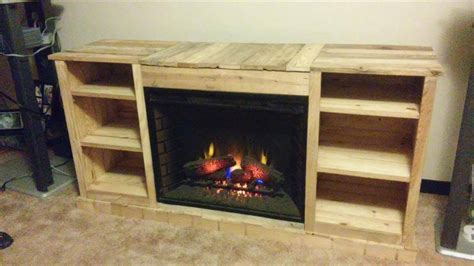 tv cabinet with fireplace pallet fireplace with tv stand