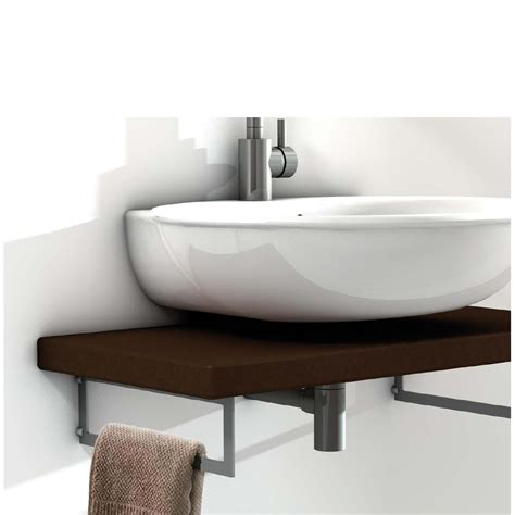 Floating Sinks by Floating Sink Bracket 440mm Pair Mastershelf