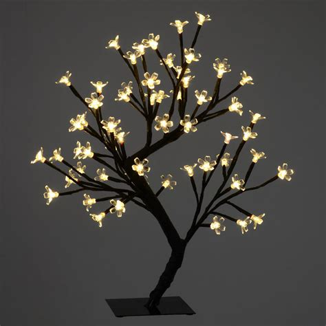 45cm led blossom cherry tree l 64 warm white lights