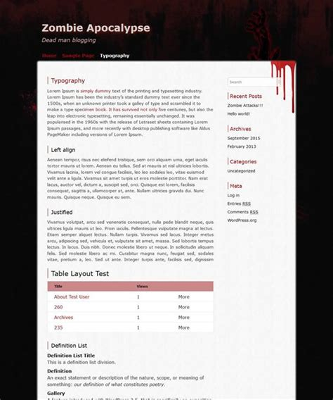 theme wordpress zombie free and customizable wordpress themes cryout creations