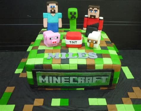 Home Decorating Items by Cupcake Divinity Miles S Minecraft Cake