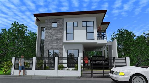 new modern two storey house plans design minimalist