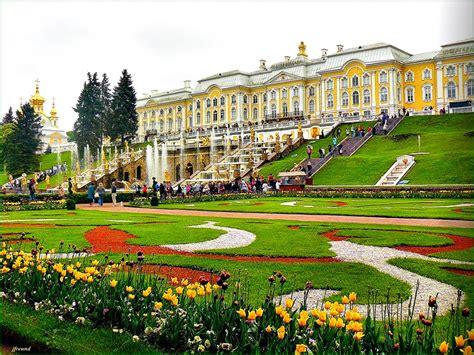 in russian peterhof palace petrodvorets in st petersburg russia