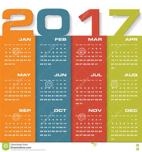 design calendar in html modern design calendar 2017 year vector design template 12