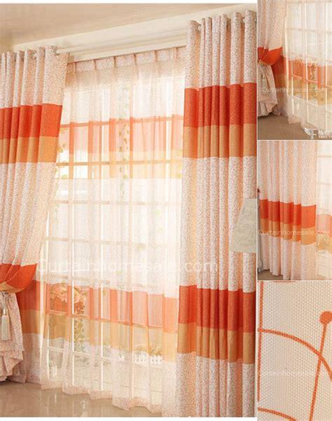Orange Valances For Windows Decorating Unique Orange Color Room Darkening Window Curtain Ideas