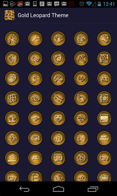 gold icon themes gold leopard theme icon pack android apps on google play