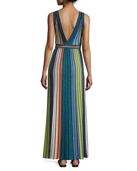 Vertical Maxi Dress m missoni metallic vertical striped maxi dress