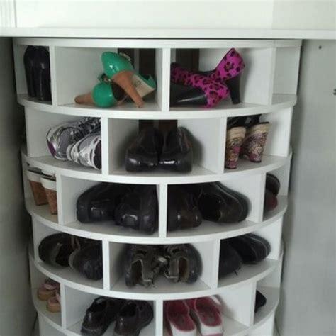 lazy susan shoe storage lazy susan shoe rack for the home the o