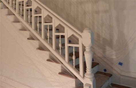 Stripping Paint From Wood Banisters by The Restoration Of A Hundred Year Chicago Oak Banister
