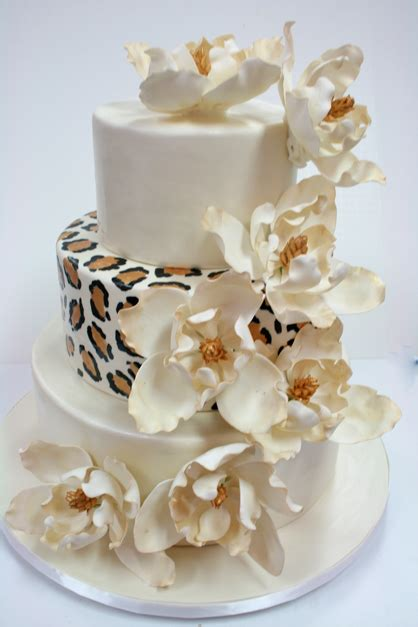 Wedding Cakes Nj by Wedding Cakes Nj Leopard Print And Sugar Magnolias